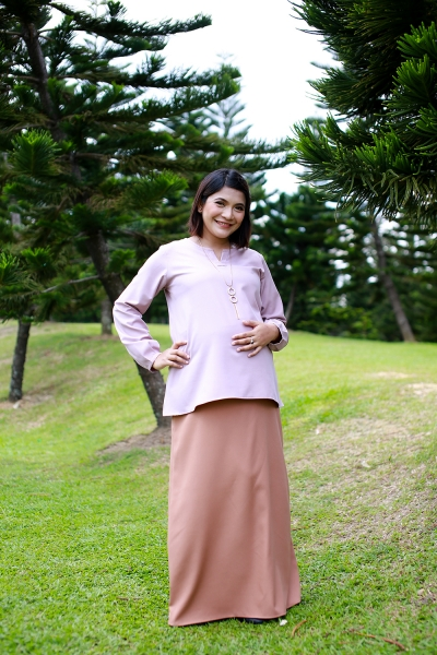 Everyday Maternity Skirt Brown