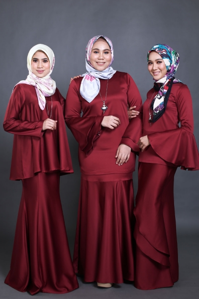 Rania Series - Plain Blouse & Skirt