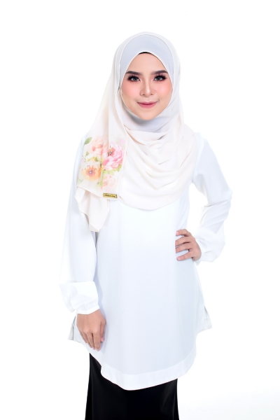 Warda  Long Blouse White