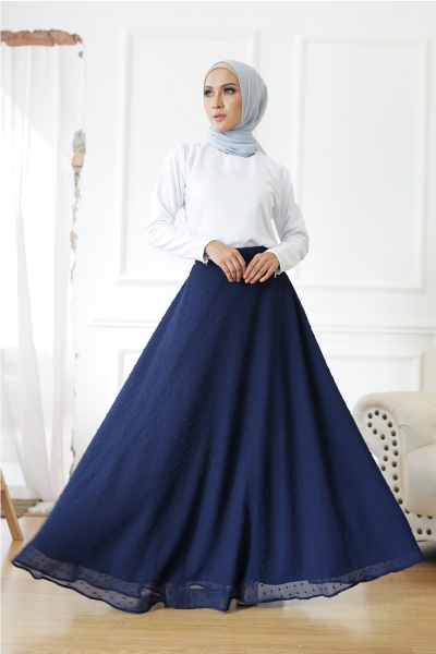 BobaLova Flare Skirt - Navy Blue