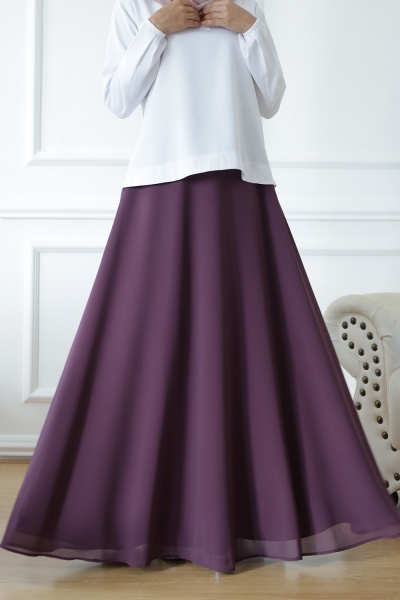 Exclusive Chiffon Flare Purple Mangosteen