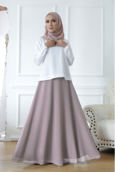 Exclusive Chiffon Flare Dusty Purple