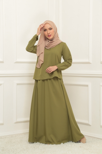 Warda Set > Moss Green