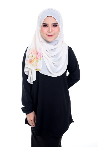 Warda  Long Blouse Black